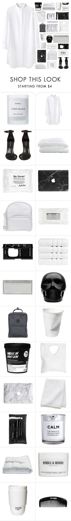 """""""theme tag: office"""" by randomn3ss ❤ liked on Polyvore featuring Byredo, Tsumori Chisato, Shoe Cult, Crate and Barrel, Jil Sander Navy, Stila, NARS Cosmetics, Christy, Gio Pagani and Fjällräven"""