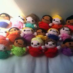 Amigurumi dolls.