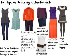 """""""top tips to dressing a short waist"""" by imogenl on Polyvore"""