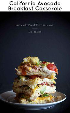 Avocado breakfast casserole