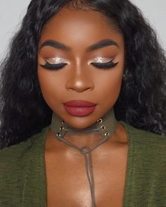 Shimmer Eyeshadow, Eyeshadow Looks, Eyeshadows, Makeup Is Life, Makeup Looks, Sweet 16 Makeup, Makeup For Black Skin, Red Lipstick Looks, Look Dark