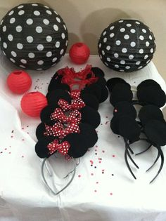 Idéias e inspirações para festas Mickey e Minnie, os ratinhos amados pelo mundo inteiro.