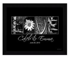 """Love Letters Personalized Framed Artwork - 20"""" x 25"""""""