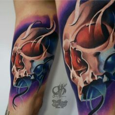 Dimitry Khmarsky Tattoo - Skull Tattoo