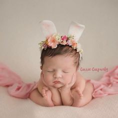 Bunny Ears Headband, fits newborn - 6 months Flowers may vary from what is shown, but spring colors will be used. Please allow up to 10 days for this item to ship as it is made to order Newborn Pictures, Baby Pictures, Baby Photos, Handmade Headbands, Ear Headbands, Crochet Headbands, Knit Headband, Newborn Headbands, Bunny Ears Headband