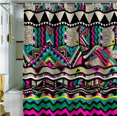 shower curtain..OMG Love it!!! Trae would NEVER let this fly in our house though lol