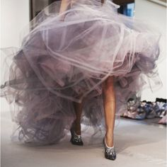 Beautiful Dress,Sheer Lavendar Organza,Though,Not The Shoes...