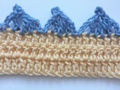 Pointed Scallops Crochet Edging Free Pattern