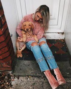 pinks + puppies