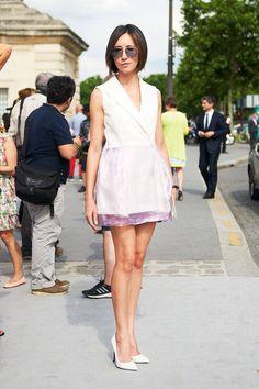 Fall 2013 Couture Fashion Week Street Style - Paris Street Style - ELLE
