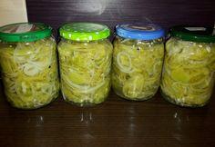Paradicsom savanyúság Pickles, Cucumber, Mason Jars, Kamra, Food, Decor, Canning, Red Peppers, Decoration