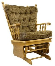 Having a wooden glider chair in your yard provides a place for relaxation and a chance to enjoy nature. A glider chair is a combination glider-rocker that moves back and forth as the seat swings. Recover Glider Rocker, Glider Rocker Cushions, Rocking Chair Cushions, Diy Chair, Furniture Fix, Upholstered Furniture, Amish Furniture, Furniture Removal, Furniture Ideas