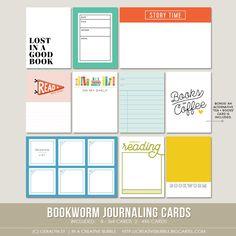 Image of Bookworm Journaling Cards (Digital)