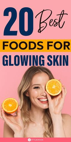 20 Best Foods For Glowing Skin: Here is a list of the 20 foods known to promote skin health. Consume these to reduce inflammation, repair oxidative damage, increase cell turnover, and boost collagen synthesis. #beauty #beautytips #skincare #glowingskin #healthyfood Collagen Rich Foods, Food For Glowing Skin, Foods For Healthy Skin, Skin Dermatologist, Deodorant Recipes, Skin Problems, About Hair, Clear Skin, Beauty Hacks