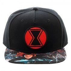 adfa7473c5ae4 New Captain America Civil War Black Widow Snapback Hat Cap Snapback Comics  Hat  Marvel