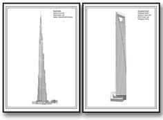 Shanghai World Financial Center skyskrapa tavla / poster Burj khalifa