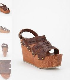 Ecote wooden wedge sandals