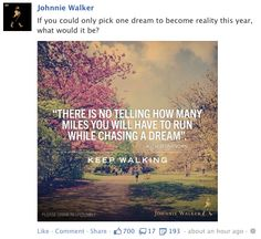 johnnie walker, facebook post, quote post, inspirational post