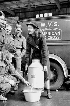 1941 - Blitz Canteen: Women of the Women's Voluntary Service run a Mobile Canteen in London, England,