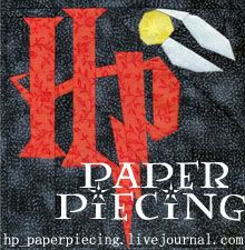 Fandom In Stitches: Harry Potter. There's at least 20 different quilt block tutorials that are HP themed (and more fandoms)