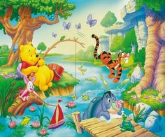 Winnie The Pooh ~ and Friends playing in the WATER!