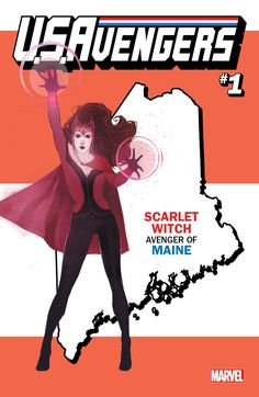 Avengers Marvel Comics has debuted 50 state variant covers for the entire United States! Which hero represents your state? Marvel 616, Marvel Comics Art, Marvel Comic Books, Marvel Heroes, Comic Books Art, Comic Art, Book Art, Scarlet Witch Avengers, New Avengers