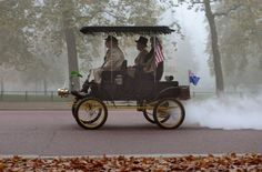 Steam car in Hyde Park