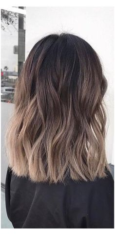 Blonde Ombre Hair, Brown Hair Balayage, Ombre Hair Color, Hair Highlights, Brunette Hair, Fall Blonde, Hair Colors, Brown Ombre Hair Medium, Balyage Short Hair