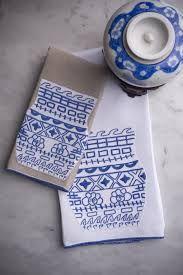 Blue and white cross stitch
