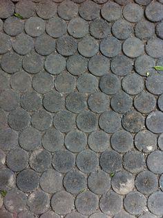 Adoquín circular pavimento permeable