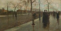 Viale della Libertà (1895, olio su tela, 97x198 cm, collezione Circolo Artistico Palermo)