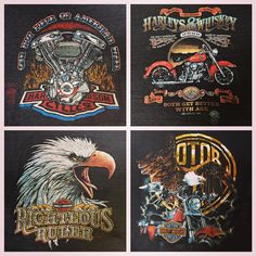 Super Thin and Faded Harley Davidson 3D tees from the 1980's in our SF shop or for sale through Instagram