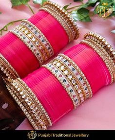 Punjabi Bridal Chura - New Design Bridal Chura Best Price Online Bridal Bangles, Bridal Jewelry, Silver Jewelry, Chuda Bangles, Wedding Chura, Punjabi Traditional Jewellery, Bridal Chuda, Thread Bangles, Indian Wedding Jewelry