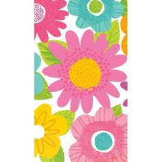 Spring Fling 2-ply paper guest towels feature a delightful, contemporary multi-hued spring floral pattern. Package includes sixteen 2-ply paper guest towels each measuring 4 1/2in x 7 3/4in. Our Spring Fling ensemble is perfect for any spring or Easter celebrations.