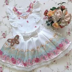 Kids Outfits Girls, Cute Outfits For Kids, Kids Girls, Girl Outfits, Girls Dresses, Kid Styles, Kids Wear, Clothing Patterns, Baby Dress