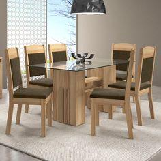 Glass Dining Table Designs, Tea Table Design, Dining Room Furniture Design, Glass Dining Room Table, Dining Decor, 6 Seater Dining Table, Wooden Dining Tables, Modern Kitchen Tables, Door Design Interior