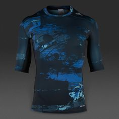 Camiseta adidas Techfit Base -Azul/Estampado