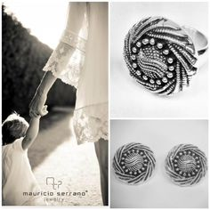 """Anillo y Aretes plata .925 """"Mauricio Serrano Jewelry"""""""