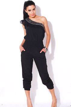 Perfect Wide Leg Jumpsuit For Woman Sexy VNeck Strappy Club Party Jumpsuits