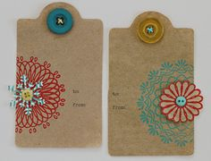 Tags. Did I pin these already?  If I did, it's because I really like them.  This time through a spirograph inspired link!