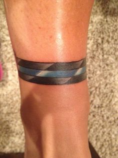 Thin Blue Line tattoo.  Law Enforcement