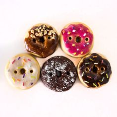 Donut Buttons by TinyPips on Etsy