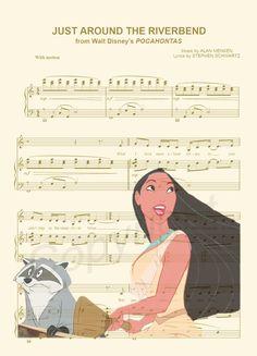 Pocahontas juste autour de la copie d'Art Riverbend par AmourPrints