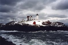 lighthouses pictures | lighthouse photo by snow w frost november 1997 cape neddick lighthouse ...