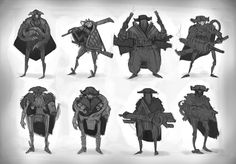 ArtStation - Some Space Pirate Sketches, Leon Ropeter