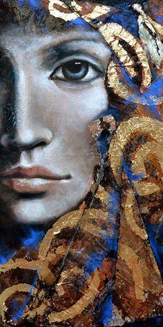 "Photo from album ""Художница Angela Betta Casale. Abstract Portrait, Portrait Art, Painting Of Girl, Painting & Drawing, Female Portrait, Medium Art, Face Art, Betta, Mixed Media Art"