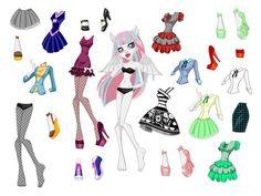 """Бумажные куклы """"Monster High"""". Обсуждение на LiveInternet - Российский Сервис Онлайн-Дневников"""