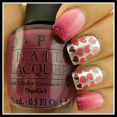 Silver & Pink with red/maroon hearts.