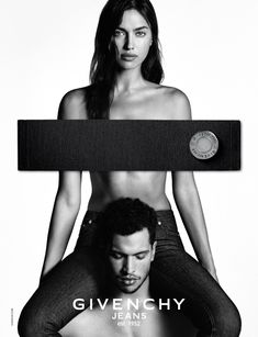 For Givenchy Jeans' latest campaign, Irina Shayk is baring it all (almost), joining fellow model Candice Swanepoel who starred in a nearly identical campaign last year. Posing intimately alongside male model Chris Moore, Shayk wears skintight jeans and nothing else, all styled by Carine Roitfeld. Photographed by Luigi & Iango, the ads' sensual vibe is perfectly timed with Valentine's Day right around the corner.