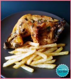 Pollo asado a la importancia (Sin Gluten, Sin Lácteos, Sin Huevo)
